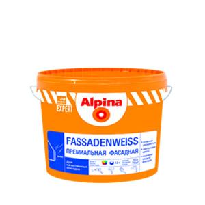 Альпина краска фасадная Fassaden-weiss 5л
