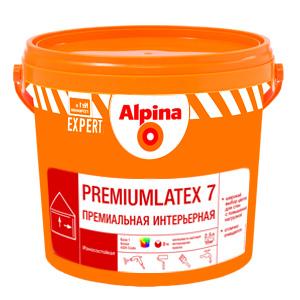 Латексная краска Альпина Premium latex 7, 10л