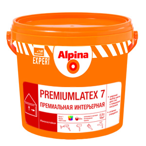Латексная краска Альпина Premiumlatex 7. База 1 (10л)