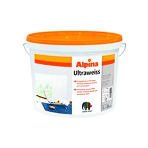 Акриловая латексная краска Alpina Ultraweiss (ультрабелая) 10л