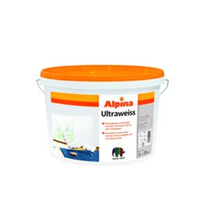 Латексная краска Альпина Ultraweiss (ультрабелая) 5л
