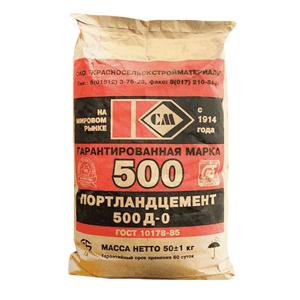 Цемент в мешках М500 д0, 25 кг Красносельский