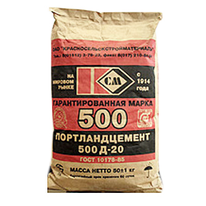 Цемент д20 М500, 25 кг Красносельск