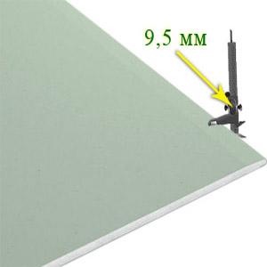 Гипсокартон влагостойкий потолочный 9,5х2500х1200