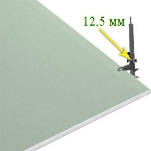 Гипсокартон стеновой влагостойкий Knauf 12,5х3000х1200