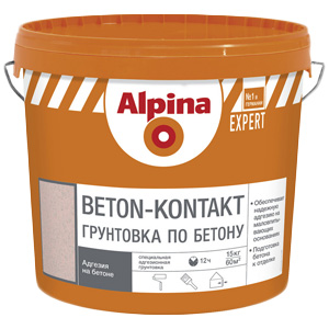 Грунтовка бетон контакт Альпина Expert 15 л
