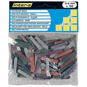 Клинья для плитки 0-4 мм, 100 шт.