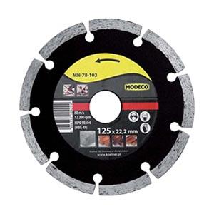 Алмазный диск 125 мм сегментный, Modeco