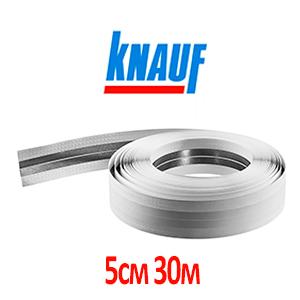 Лента углоформирующая металлизированная 50 мм, 30 м Knauf