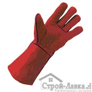 Перчатки спилковые рабочие с подкладкой из нат. кожи