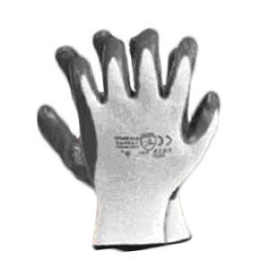Перчатки рабочие с нитриловым покрытием, черные