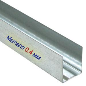 Профиль для гипсокартона UD 27x28х0,4мм