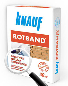 Штукатурка гипсовая Rotband Knauf 30 кг