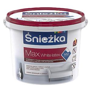 Снежка краска латексная Max White Latex 10 л
