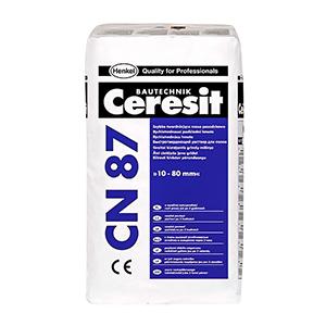 Смесь для стяжки пола быстротвердеющая Ceresit CN87 25кг, РБ